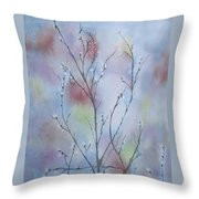 Pussywillows Throw Pillow