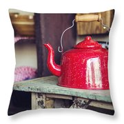 Put The Kettle On Throw Pillow