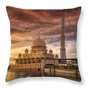 Putrajaya Beauty At Dusk Throw Pillow