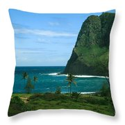 Puu Koae Kahakuloa Throw Pillow