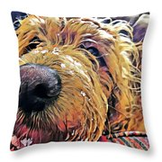 Puppy Wants To Cuddle Throw Pillow