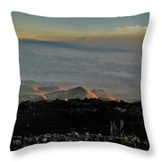 Pu'us Aglow In Late Afternoon Light Throw Pillow