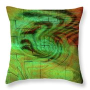 Puzzle Face Throw Pillow