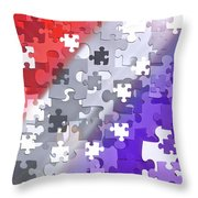 Puzzled - Conceptual Abstract Throw Pillow