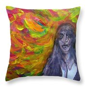 Puzzlement And Joy When Colors Enter Throw Pillow