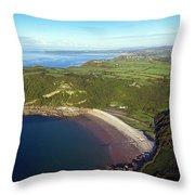 Pwll Du Bay Swansea Throw Pillow