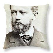 Pyotr Ilyich Tchaikovsky, Russian Throw Pillow