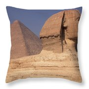 Pyramid And Sphinx Throw Pillow