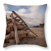 Pyramid In The Sand Throw Pillow