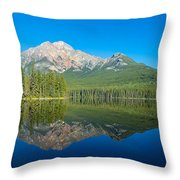 Pyramid Island In The Pyramid Lake Throw Pillow