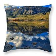 Pyramid Lake Resort Reflections Throw Pillow