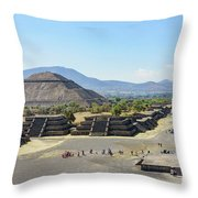 Pyramid Of The Sun And Avenue Of The Dead Throw Pillow