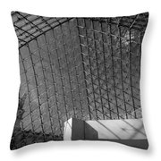 Pyramide Du Louvre Throw Pillow