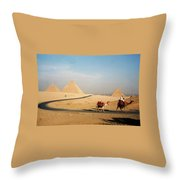 Pyramids At Giza Throw Pillow