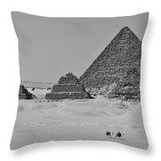 Pyramids At Giza Throw Pillow