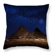Pyramids Milky Way Throw Pillow