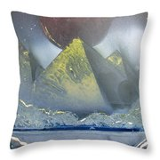 Pyramids Of The Red Moon Throw Pillow