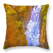 Pyrenees Spanish Bridge Waterfall Throw Pillow