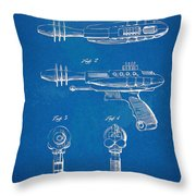 Pyrotomic Disintegrator Pistol Patent Throw Pillow