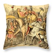 Pyrrhus Arrives In Italy With His Troupe Throw Pillow