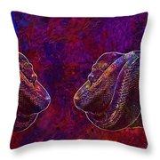 Python Snake Green Tree Python  Throw Pillow