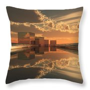 Q-city Five Throw Pillow
