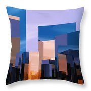 Q-city One Throw Pillow