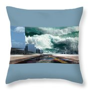 Q-city Seven Throw Pillow
