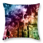 Q-city Three Throw Pillow