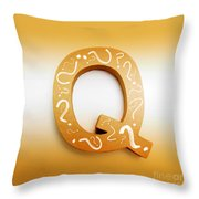 Q For Education And Learning Throw Pillow
