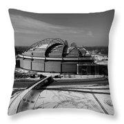 miller park - B - W Throw Pillow