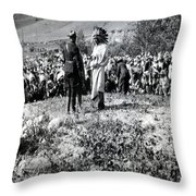 Qu' Appelle Natives  Throw Pillow