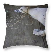 Quack Quack Throw Pillow by Danielle Allard