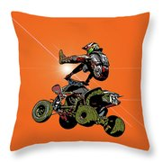 Quad Rider Series Throw Pillow