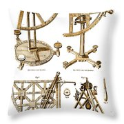 Quadrants And Sextant, 1790 Throw Pillow