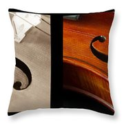 Quadriptych Of Musical Curves Throw Pillow