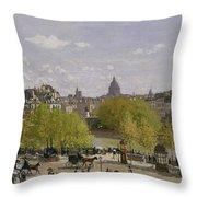 Quai Du Louvre In Paris Throw Pillow
