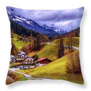 Quaint Bavarian Village Throw Pillow
