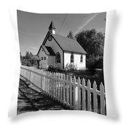 Quaint Place Of Worship Throw Pillow
