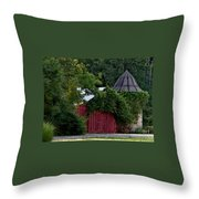 Quaint Red Barn  Throw Pillow