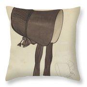 Quaker Bonnet Throw Pillow