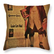 Quaker Quality Throw Pillow by Bill Cannon
