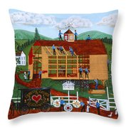 Quakers Acres Throw Pillow by Joseph Holodook