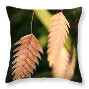 Quaking Grass Throw Pillow