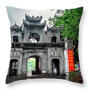 Quan Thanh Temple Gate Throw Pillow