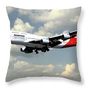 Quantas Boeing 747 Throw Pillow