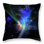 Quantum Filament Throw Pillow