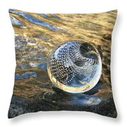 Orion With Blue And Gold Throw Pillow