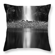 Quarry Waterfall Throw Pillow