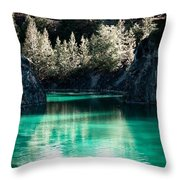 Quarry Waters Throw Pillow